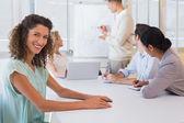 Businesswoman during meeting — ストック写真