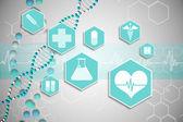 Medicinsk ikoner i blått och vitt — Stockfoto