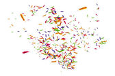 Many feathers blowing in the breeze — Stock Photo