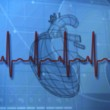 Medical background with heart diagram — Stock Photo