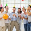 Business team celebrating with champagne — Stock Photo #45113595