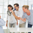 Business team shouting at a colleague — Stock Photo #45114479