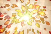 Autumnal leaf pattern in warm tones — Stock Photo