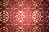 Patterned wallpaper in red and gold — Stock Photo