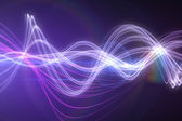 Curved laser light design in purple — Stock Photo