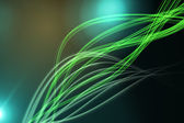 Curved laser light design in green — Stock Photo