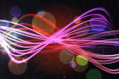 Curved laser light design in pink — Stock Photo