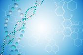 DNA helix with chemical structures — Stock Photo
