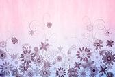 Dziewczęca kwiatowy wzór tła — Zdjęcie stockowe