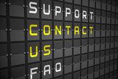 Contact us buzzwords — Stock Photo