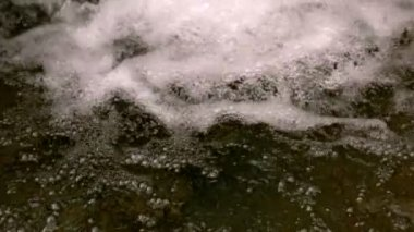 Brook bubbling in the countryside — Stock Video