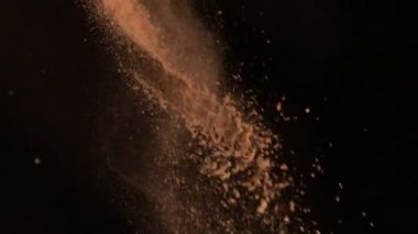 Brown flour falling — Stock Video