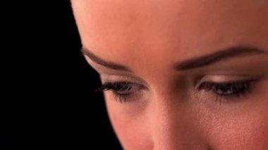 Ojos de mujer — Vídeo de stock