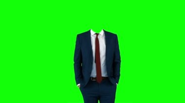 Headless businessman gesturing — Stok video