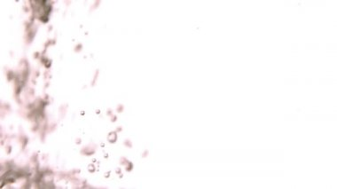Water bubbling on white surface — Stock Video