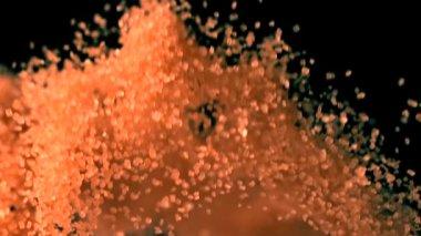 Brown sugar bouncing — Stock Video