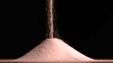 Sugar pouring — Stock Video