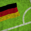 Composite image of germany national flag — Stock Photo #46743577