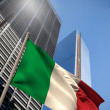 Composite image of italy national flag — Stock Photo