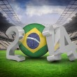 Composite image of brazil world cup 2014 — Stock Photo #46747627