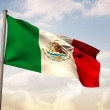 Composite image of mexico national flag — Stock Photo #46747799