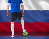 Composite image of football player in blue jersey — Stockfoto