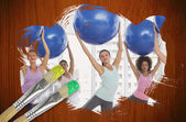 Fitness class at the gym — Stock Photo