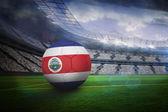 Football in costa rica colours — Stock Photo