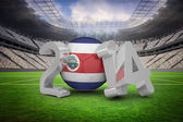 Composite image of costa rica world cup 2014  — Stock Photo