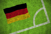 Composite image of germany national flag — Stock Photo