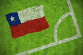 Composite image of chile national flag — Stock Photo