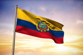 Composite image of ecuador national flag — Stock Photo