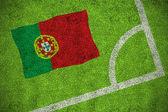 Imagem composta da bandeira nacional de portugal — Fotografia Stock