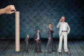 Businessmans life with ruler — Stock Photo