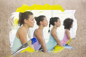 Yoga class in the gym — Stock Photo