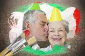 年长夫妇庆祝生日 — 图库照片