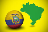 Composite image of football in ecuador colours — Stock Photo