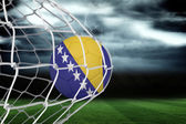 Composite image of football in bosnia and herzegovina colours  a — Stock Photo