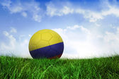 Football in colombia colours — Foto de Stock