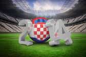 Composite image of croatia world cup 2014 message — Stock Photo