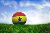 Football in ghana colours — Foto de Stock