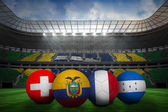 Group e world cup footballs — Stock Photo