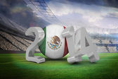 Composite image of mexico world cup 2014  — Stock Photo
