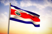 Composite image of costa rica national flag — Stock Photo