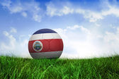 Football in costa rica colours — Foto de Stock