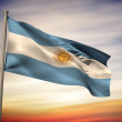 Composite image of argentina national flag — Stock Photo #46750619
