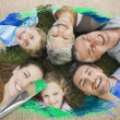 Extended family smiling at camera — Stock Photo #46754003