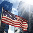 Composite image of usa national flag — Stock Photo #46755131