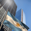 Composite image of argentina national flag — Stock Photo #46756565