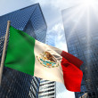 Composite image of mexico national flag — Stock Photo #46757085